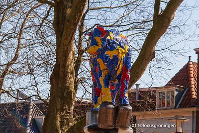 nederland 2011, delft, beestenmarkt, delfse koe