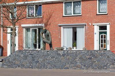 nederland 2012, westkapelle, markt, dijkwerker