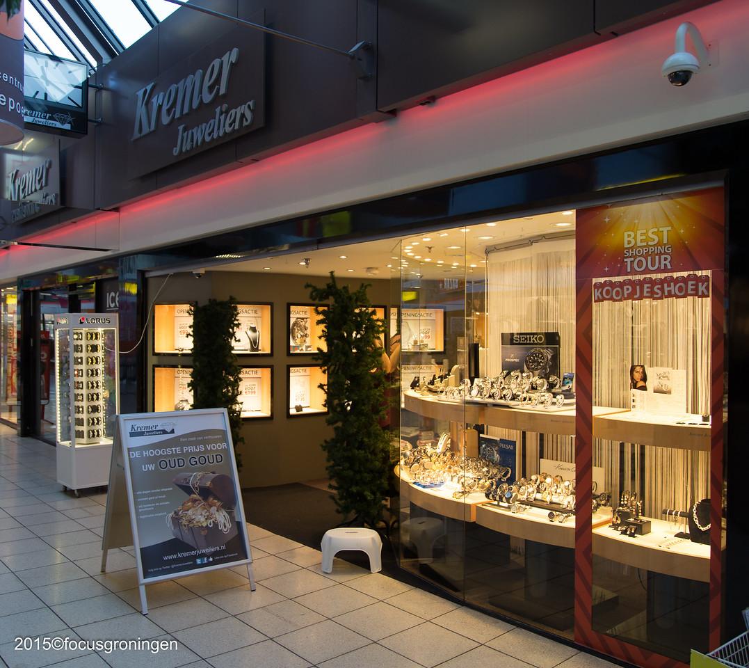 nederland 2015, groningen, paddepoel, winkelcentrum, kremer juweliers