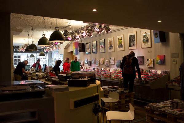 Traditional recordshop in the Voorstraat