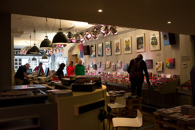 Traditional recordshop in the Voorstraat
