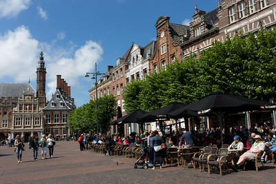 "The ""Grote Markt"", the central Market Square of Haarlem"