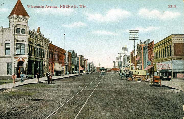 Wisconsin Ave. post card.