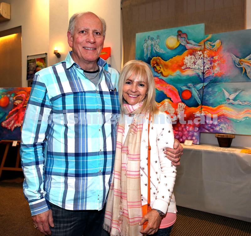 Nefesh Art Exhibition. Ellis & Avril Kahn. Pic Noel Kessel.