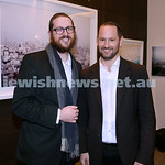 Nefesh Art Exhibition. Rabbi Aron Moss (left) & Larnce Gold. Pic Noel Kessel.