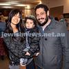 Nefesh Art Exhibition. Leyat Reuben (left) with her son Joe and Husband Jack. Pic Noel Kessewl.