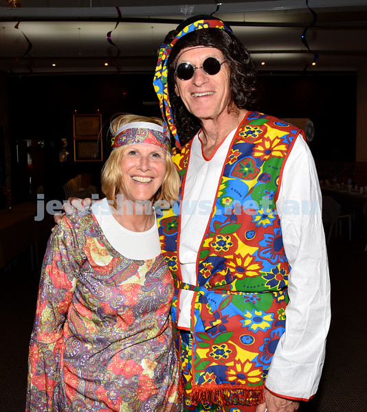 Purim at Nefesh Synagogue. Libby and Ron Moss. Pic Noel Kessel