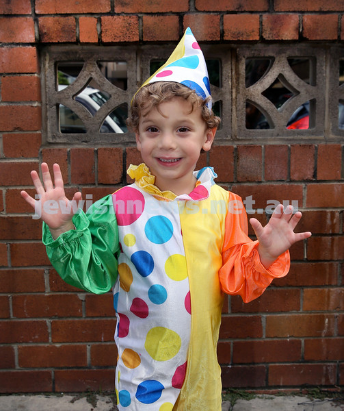 Kids Purim Party at Nefesh. Jonah Zilber. Pic Noel Kessel.