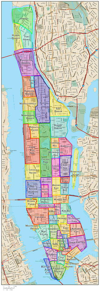 Manhattan Neighborhoods Map