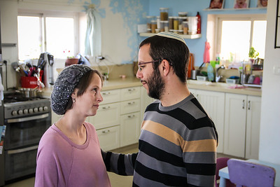 Natan and Meg Alexander made aliyah from Australia and South Africa, respectively. They have been renting their home in Elazar for four years, but the owners have been there for longer. They worked as emissaries out of the country for three years teaching Zionism. They are now wondering how they will be able to explain to their children in a few days why the state is destroying these homes.