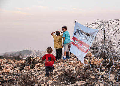 Children at Netiv Avot - a neighborhood under threat