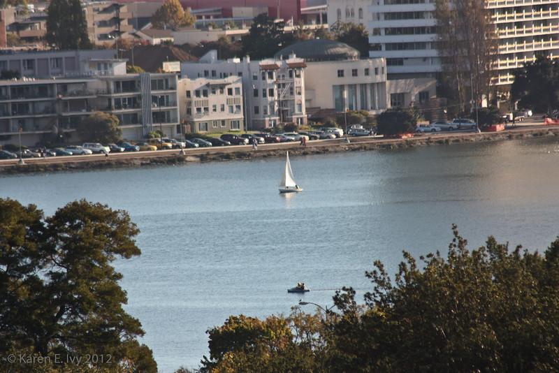 Sailboat on Lake Merritt
