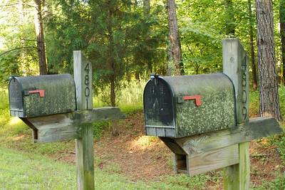 weathered mailboxes