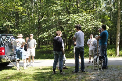 gathering for a walk-about with Clayton Davis 8/2013