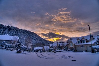 February 24, 2011 - Sunrise with snow