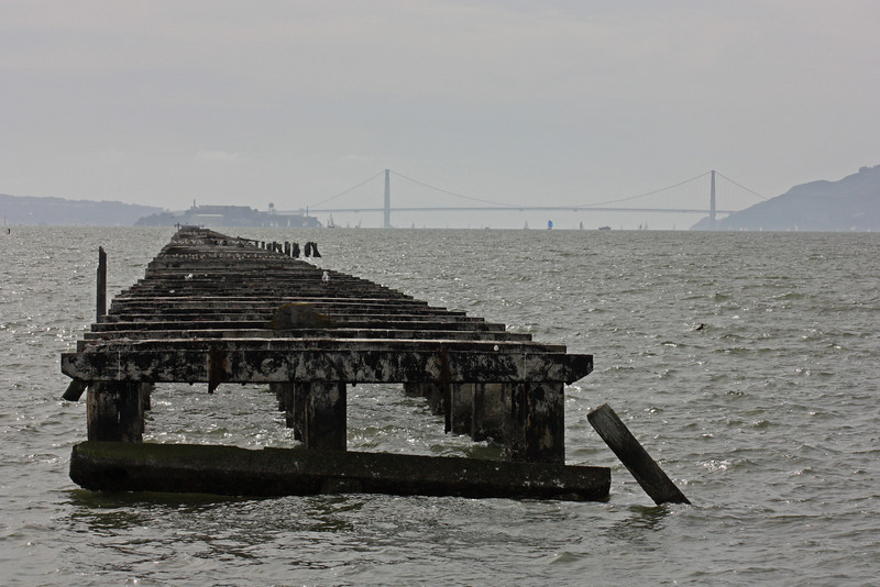 Remains of the old pier