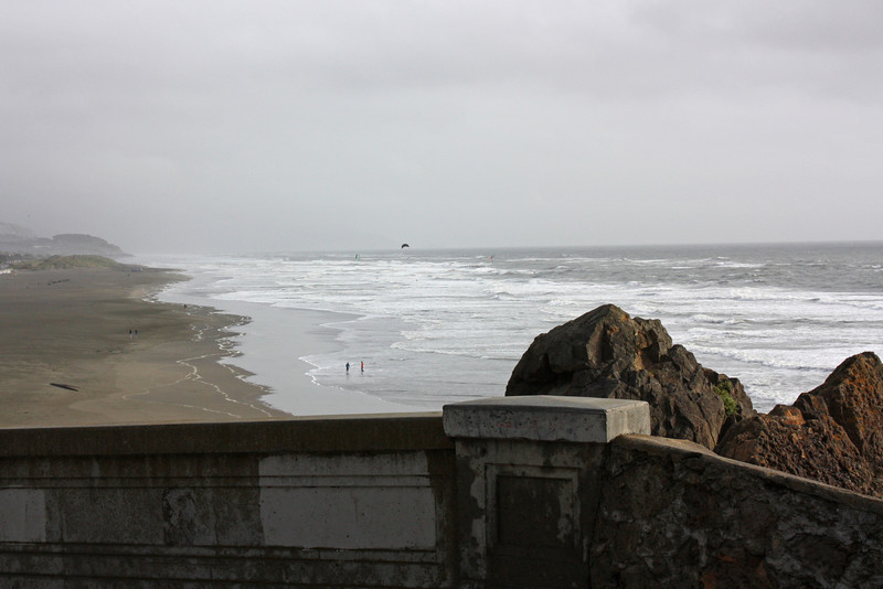 Ocean Beach from the Cliff House, April 2, 2010