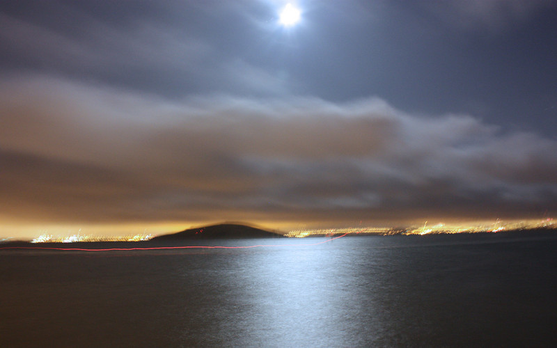 Full moon over SF Bay, July 3, 2009