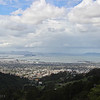 Bay Area with incoming storm, from Grizzly Peak Road, Easter 2013