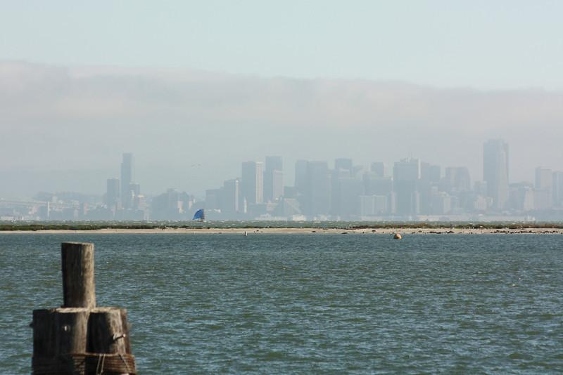 San Francisco through the fog, July 3, 2009