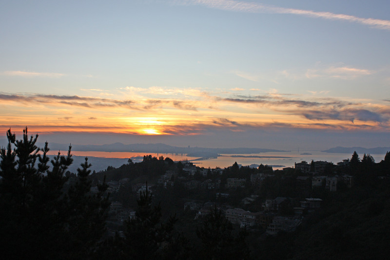 Sunset from Grizzly Peak Road, Christmas Day 2009