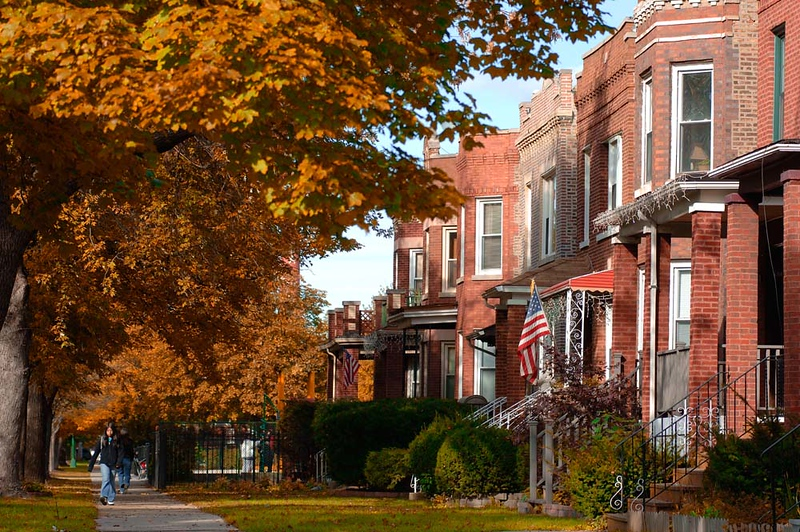 Fall Neighborhood in Chicago