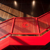 staircase railing detail of Blackhawks training facility