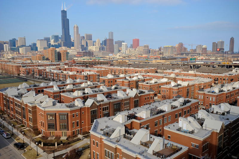 Aerial View of University of Illinois Chicago