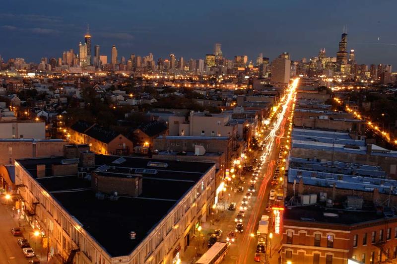 Corner of North Avenue and Damen Avenue