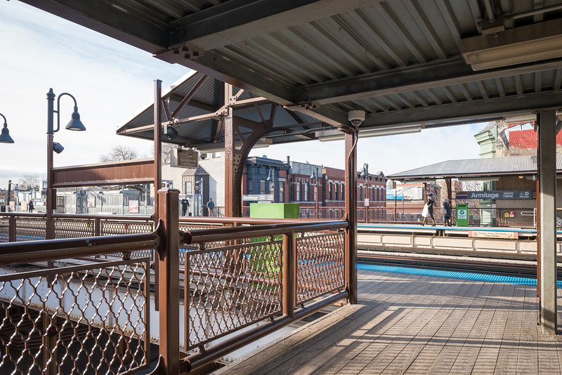 CTA Armitage Brown Line Station platform