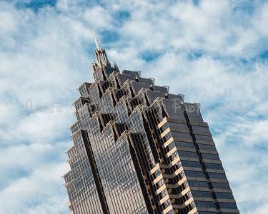 Close View of Atlanta's Promenade Office Building in Midtown.