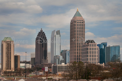Atlanta's midtown skyline viewed from Atlantic Station.