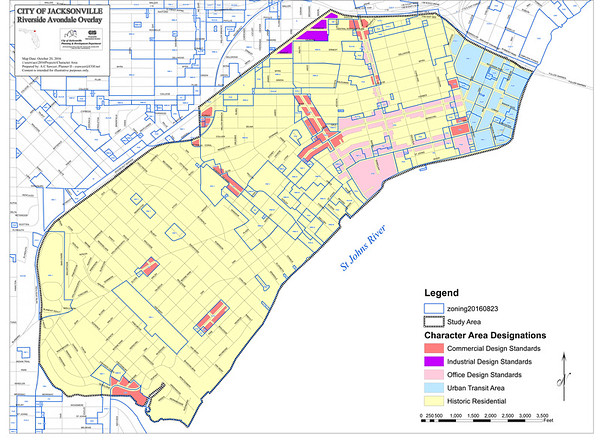 Riverside Avondale Actual Zoning Map With Overlay Areas