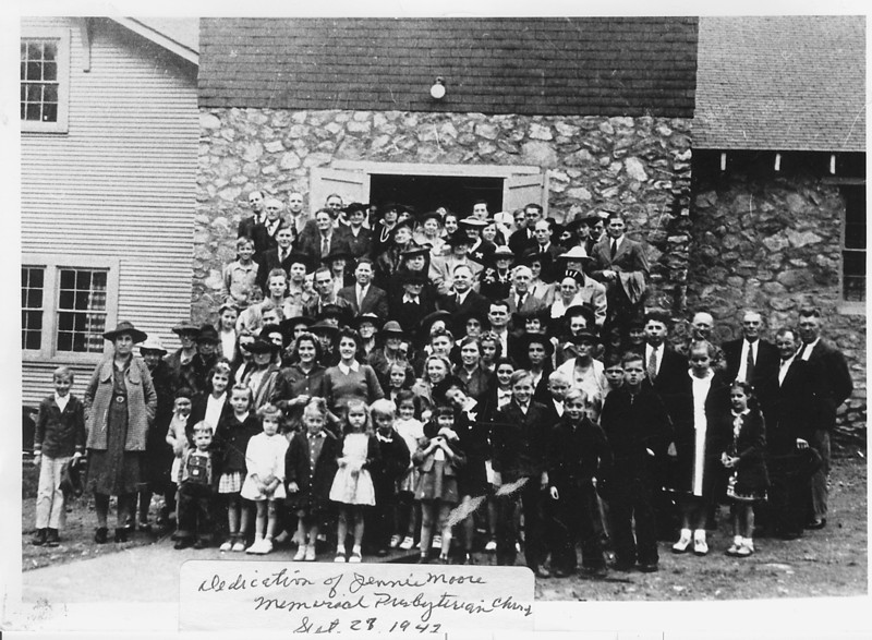Dedication of New Church, 1942