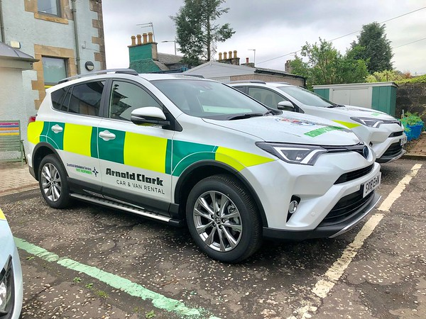 Toyota RAV4's @ base ready to answer emergency calls