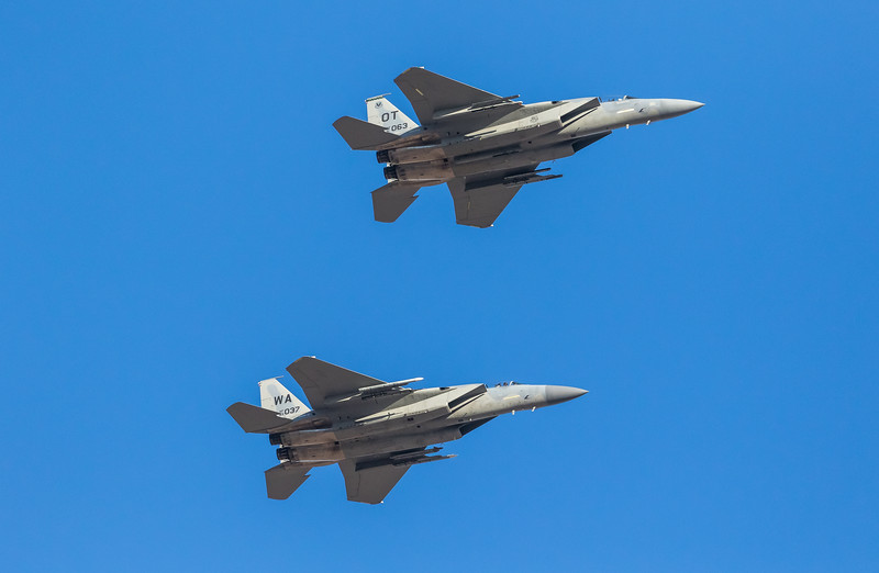 """-(Aircraft) McDonnell Douglas F-15C & D Eagle<br /> -(Nation & Service) United States Air Force<br /> -(Squadron) 422nd Test & Evaluation Squadron & 433rd Weapons Squadron """"Satan's Angels""""<br /> -(Home Base) Nellis Air Force Base, Nevada"""