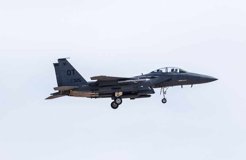 """-(Aircraft) McDonnell Douglas F-15E Strike Eagle<br /> -(Nation & Service) United States Air Force<br /> -(Squadron) 422nd Test & Evaluation Squadron """"Green Bats""""<br /> -(Home Base) Nellis Air Force Base, Nevada"""
