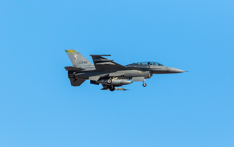 "-(Aircraft) General Dynamics F-16D Fighting Falcon <br /> -(Nation & Service) United States Air Force<br /> -(Squadron) 134th Fighter Squadron ""The Green Mountain Boys"" <br /> -(Home Base) Burlington Air National Guard Base, Vermont"