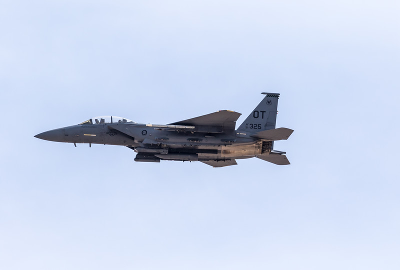 "-(Aircraft) McDonnell Douglas F-15E Strike Eagle<br /> -(Nation & Service) United States Air Force<br /> -(Squadron) 422nd Test & Evaluation Squadron ""Green Bats""<br /> -(Home Base) Nellis Air Force Base, Nevada"