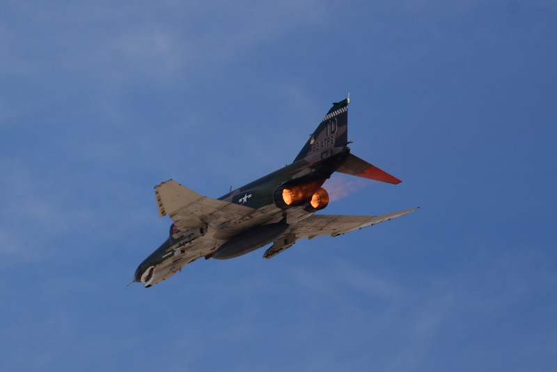 Here the F-4 puts on it's afterburners!