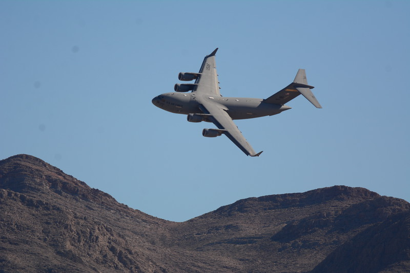 Here's a really cool photo of the C-17 as it skirts the mountain tops.