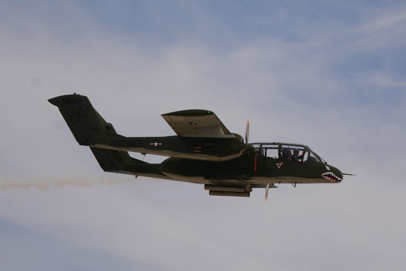 """This is the """"Bronco"""". They used this aircraft a lot in Vietnam for search/rescue and combat recon."""