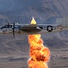 The B-25 Mitchell shows us a bombing run! Got lucky on this photo!