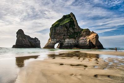 Rock formations off Wharariki Beach