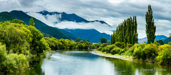 beautiful meandering river in Nelson