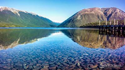The clear still waters of Lake Rotoiti, Nelson Lakes