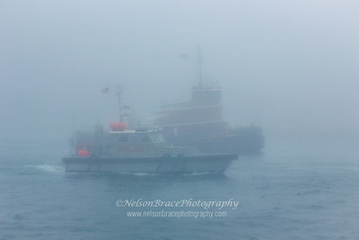 The Northeast Pilot Boat and Tug 'Buckley McAllister' return to their stations.