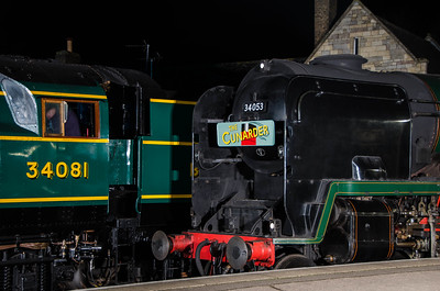 34081 and 34053 'Sir Keith Park' at Wansford