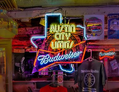 Austin City Limits/Budweiser sign.