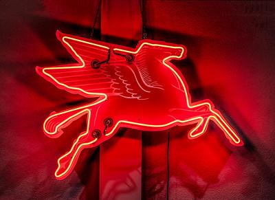 Mobil Oil's Flying Red Wing Pegasus.